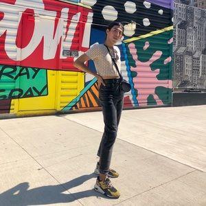 Gloria Vanderbilt Dark Grey High Waisted Jeans